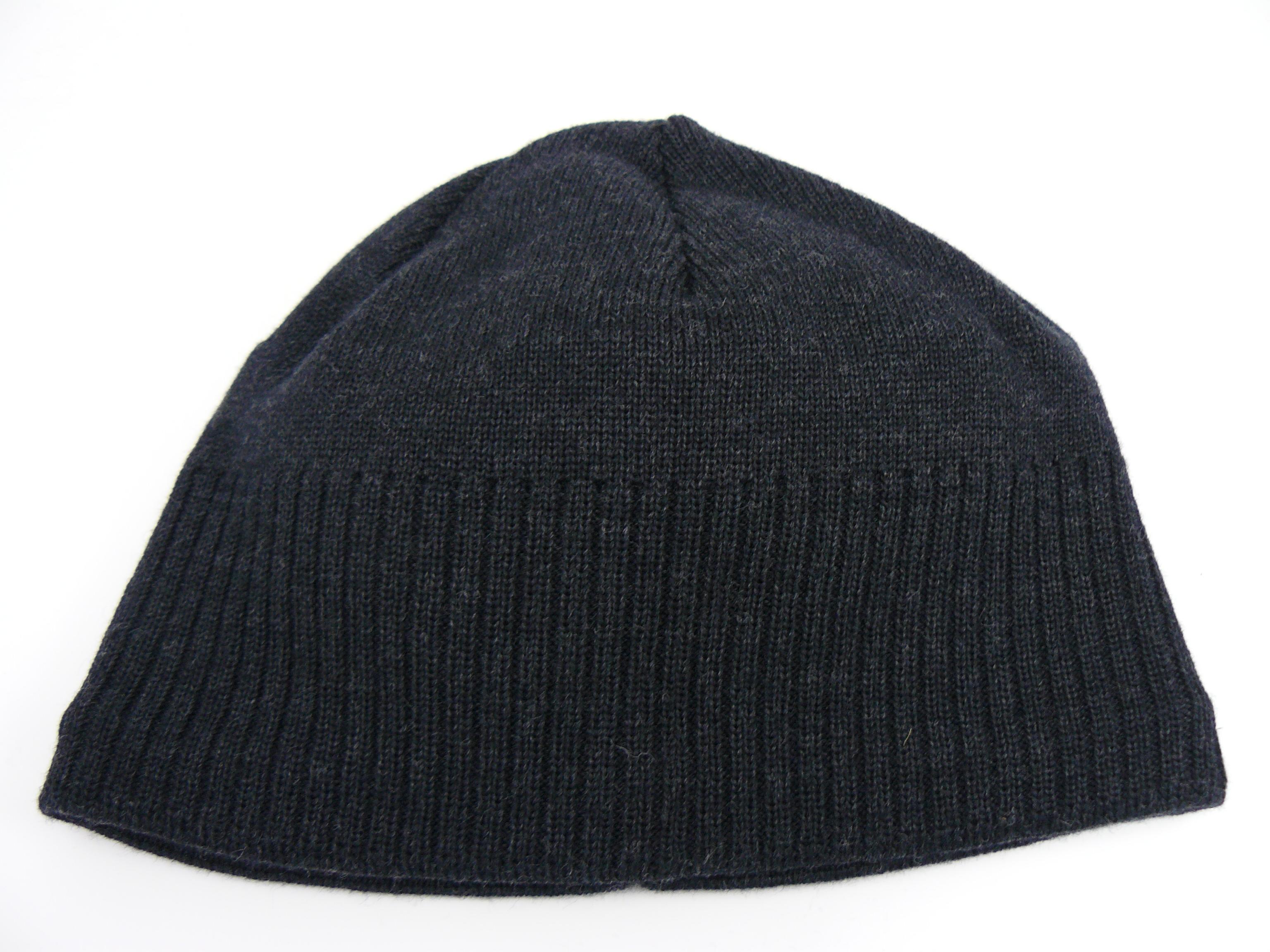 Balke Feinstrickmütze Merino schwarz Wollmütze Beanie Mütze