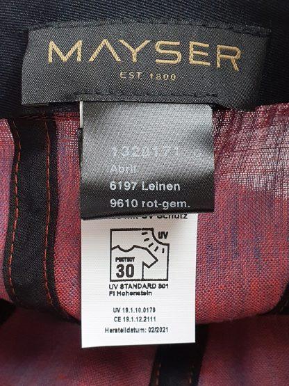 Mayser Cap Abril Leinen Damen