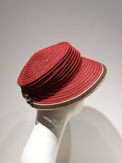 Bedacht Reisehut Schute für Damen rot braun