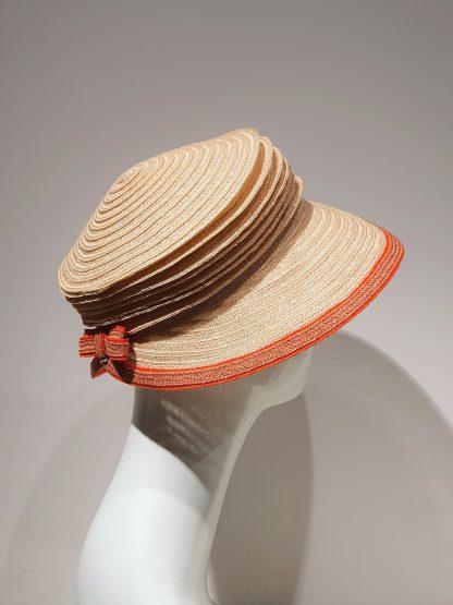 Bedacht Reisehut Schute für Damen beige orange